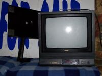small TV and wall bracket