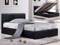 💥💖Upto 80% Off Now💥💥 New Double Gas Lift Storage Ottoman Leather Bed w Royal Orthopedic Mattress