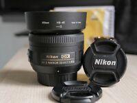 Nikon 35mm f/1.8 G - Like new