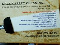 Dale carpet cleaning xmas offers now on