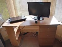 4ft IKEA Computer Desk with Drawers - Good Condition - £40 ONO