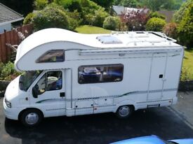 Bessacarr E435 Motorhome Five berth Four seatbelted seats