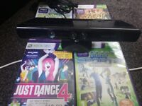 xbox 360 kincet and 4 games 15 pound