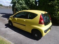 Yellow Peugeot 107 3dr Urban - 21,800 Miles