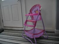 Highchair for Dolls ONLY