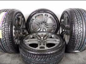 "RANGE ROVER KAHN RS600 WHEELS TYRES 275 40 22"""