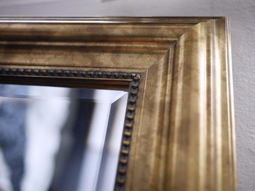 ikea levanger large gold framed mirror in notting hill