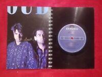 Double Blue A5 Handmade Vinyl Notebook