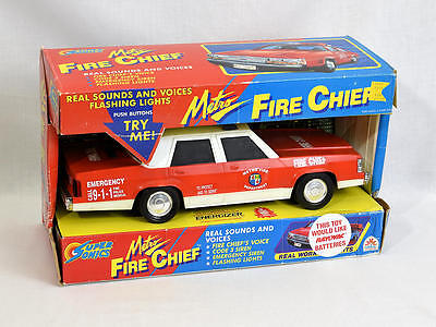 Vintage Funrise Super Sonics Metro Red Fire Chief Car Toy Model 02100
