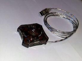 4 Way USB 2.0 Hub.