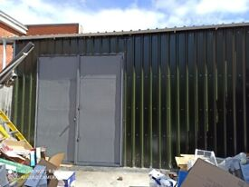 Canopies, roofing and metal gate