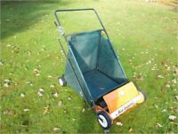 Leaf - Lawn and Drive Sweeper – large capacity push-type. Excellent condition
