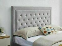 🔴DISCOUNT SALE PRICE🔵DOUBLE SIZE PLUSH VELVET HEAVEN OTTOMAN STORAGE BED FRAME w OPT MATTRESS🔥