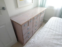 Cotswold Company lime wash finish chest of drawers