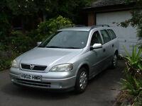 Vauxhall ASTRA Estate, 1600 Automatic Petrol, Silver, 98,000 miles, recent service, long MOT