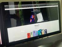"Apple 27"" LED Cinema Display 27 inch; with iSight, 3x USB, mic, speakers 2560x1440"