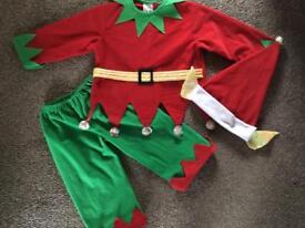 Santa's Little Helper fancy dress-size 2-3 years
