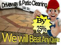 """DRIVEWAY & PATIO CLEANING"" Already Had A Quote ? (I will beat it by 25%) Free Quote Within ""1 Hour"""