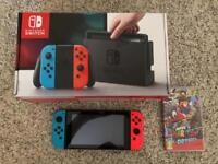 Nintendo Switch with Super Mario Odyssey