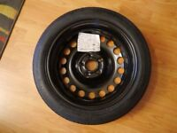Vauxhall Astra J spacesaver spare wheel with tools