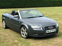 2008 Audi A4 2.0 TDi S-Line Cabriolet Convertible 140 bhp Diesel * FSH, Full Leather, MOT, Stunning