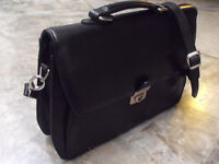 LEATHER BRIEFCASE-executive, slimline Nearly New