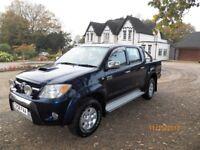 TOYOTA HILUX DOUBLE CAB PICKUP,3.0 D4D 4WD,DIESEL BLACK AUTOMATIC,NO VAT