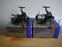 Daiwa Infinity 5000BR reels x2....carp fishing tackle