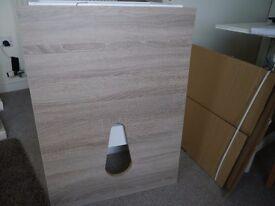 Fascia pack for wc vanity unit. Aliano style, oak colour.