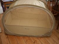 Samsonite Pop Up Travel Cot, with mattress and bag.