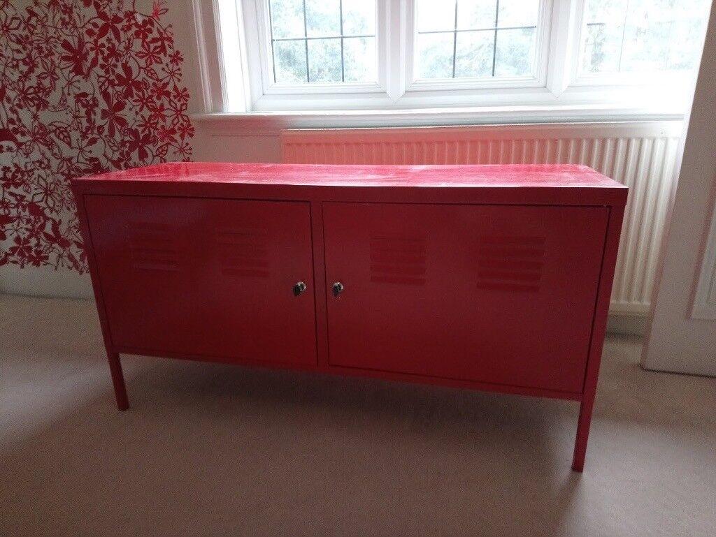 Red IKEA Side/media/tv Cabinet