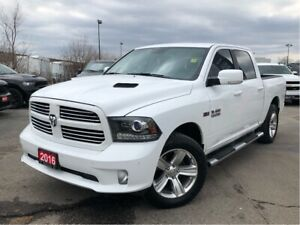 2016 Ram 1500 SPORT**LEATHER**SUNROOF**NAV**CREW CAB**