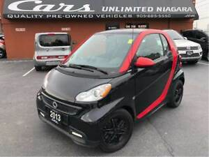 2013 smart fortwo Passion | GLASS TOP | HEATED SEATS | BLACK LEA