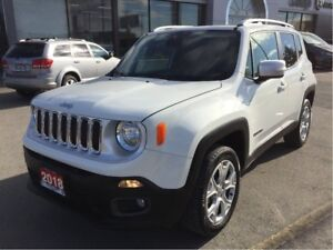 2018 Jeep Renegade Limited 4x4 w/Navi, Leather, Sunroof, Tow Pac