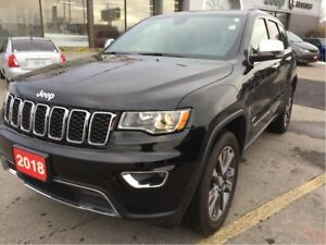 2018 Jeep Grand Cherokee Limited 4x4 V6 w/Heated Leather, Navi,