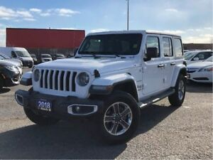 2018 Jeep Wrangler UNLIMITED SAHARA**4X4**LEATHER**NAV**BACK UP