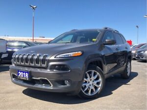 2018 Jeep Cherokee LIMITED**LEATHER**BACK UP CAM**NAV**ONLY 5230