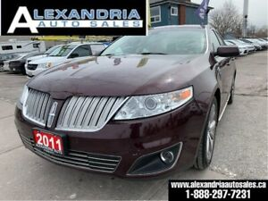 2011 Lincoln MKS 128km/navi/sunroof/AWD/clean/safety included