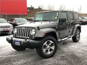 2018 Jeep Wrangler UNLIMITED SAHARA**4X4**6.5 INCH TOUCHSCREEN**