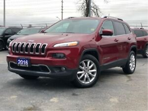 2016 Jeep Cherokee LIMITED**4X4**LEATHER**NAV**TRAILER TOW GROUP