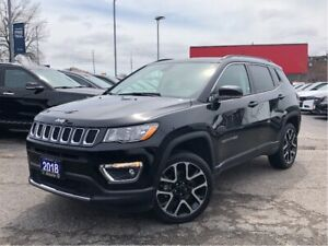 2018 Jeep Compass LIMITED**4X4**LEATHER**NAV**SUNROOF**BLUETOOTH