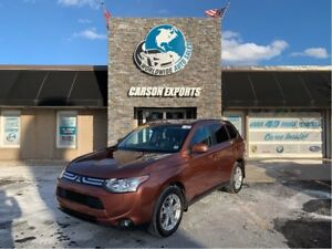 2014 Mitsubishi Outlander WOW SHARP GT 7 PASSENGER! FINANCING AV