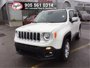 2018 Jeep Renegade Limited 4x4 w/Leather, Sunroof, Navi, Remote