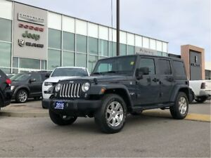 2016 Jeep WRANGLER UNLIMITED Sahara with 2 tops, Accident Free a