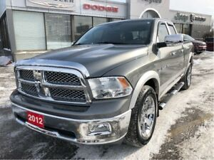 2012 Ram 1500 Laramie Quad 4x4 V8 w/Leather, Sunroof, Navi, Hitc