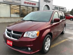 2018 Dodge Grand Caravan Crew Plus w/Leather Heated Seats, Navi,
