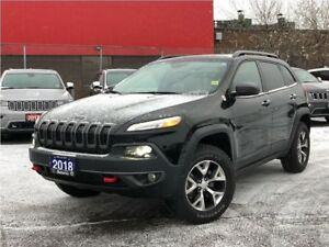 2018 Jeep Cherokee TRAILHAWK**LEATHER**BACK UP CAM**ONLY 15, 015