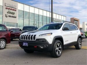 2018 Jeep Cherokee Trailhawk PLUS, PLUS! Leather, Nav, Starter,