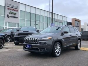 2018 Jeep Cherokee Limited! SUPER LOW KMS and NOT A RENTAL!