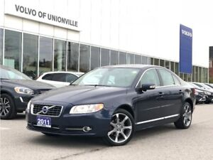 2011 Volvo S80 T6 AWD Level 2 BLIS,VENTILATED FRONT SEATS, TURBO